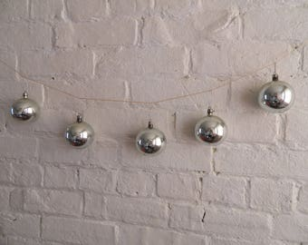 Vintage Christmas Ornaments - Silver - 12