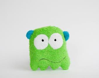 Washcloth Monster, Baby Washcloth Monster, New Baby Present, Baby Sponge, Sad Monster, Baby Bath Toy, Baby Bathing
