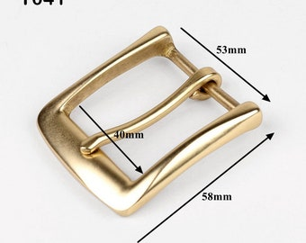 Copper Pin Buckle For Men/Brass Belts Buckle/D-Ring Solid Brass Buckle Handmade DIY/Leather Belts Buckle T041
