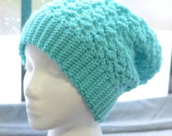 Lace Crochet Slouchy Beanie