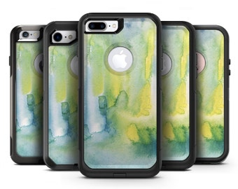 Green 211 Absorbed Watercolor Texture - OtterBox Case Skin-Kit for the iPhone, Galaxy & More