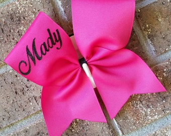 Cheer bow, Custom bow, Personalized bow - CHOICE OF COLORS