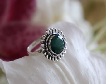 Opaque Natural Emerald ring size 8