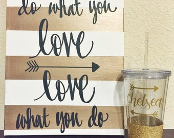 Personalized Arrow Glitter Acrylic Tumbler // Arrows // Birthday Gift // Glitter Cup // Glitter Dipped // Personalized Gift // Glitter Sips