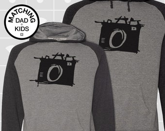 Matching Dad and Me Hoodies - Canoe