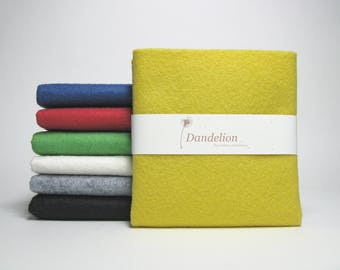 "7 Pieces of Bold Coloured Wool Blend Felt Sheets 22.8cm x 30.4cm (9"" x 12"")"