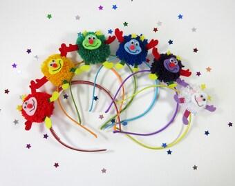 80s Rainbow Brite Sprite Pom Pom Headband