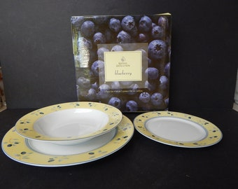 Royal Doulton 3 Piece Place Setting Blueberry New In Box 3 Sets Available