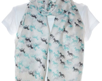 Mini horse scarf shawl, Beach Wrap, Cowl Scarf, mini horse print scarf, cotton scarf, gifts for her