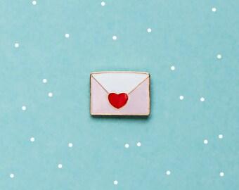 Love envelope enamel pin