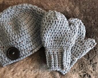 Toddler Hat + Mittens Set