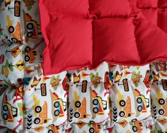 Construction trucks Small weighted blanket  38to40x55