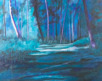 Signed Giclee Art Print 'Twilight' Julie Hollis, Dumfries, Scotland