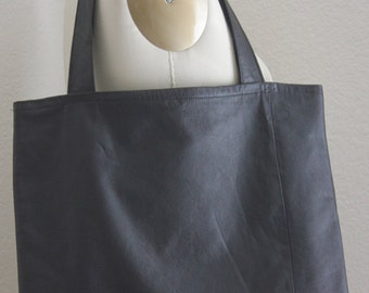 Large  Black Leather Tote Bag, Leather Tote Bag, Leather Bag, Large Leather Tote Bag