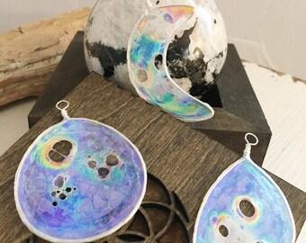 Made to Order, Suncatchers, Ornaments, Moon Phases, Full Moon, Crescent Moon, Quarter Moon, Half Moon, Goddess, Moon Lover, Starry Night