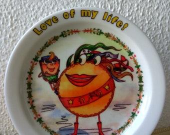 Hummus & Pitta! The Love of my Life! A hand-made Israeli souvenir plate