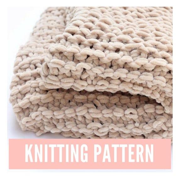 Baby Blanket Knitting Pattern Chunky Baby Blanket Pattern