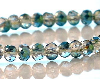 Crystal AB Rondelle 4x3mm Faceted half strand 72 beads