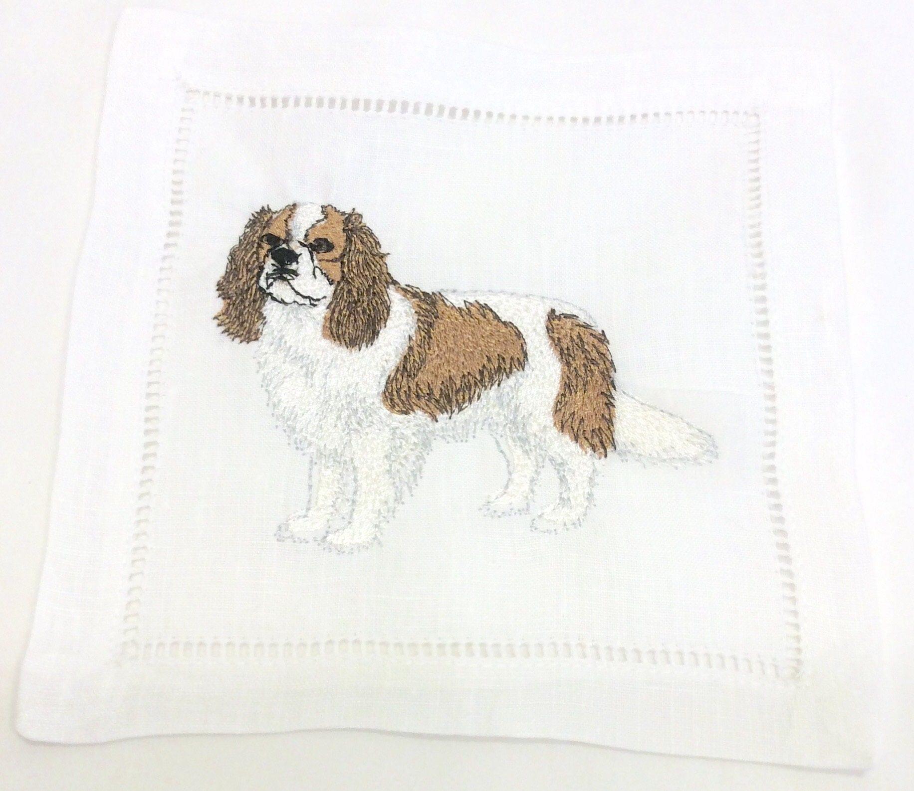 Embroidered Napkins - White 6x6