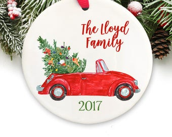 Personalized Christmas Ornament Personalized Keepsake Ornament Family Christmas Ornament GIFT BOX  Included