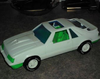 Vintage 80s 5.0 Mustang GT Plastic Car - Gay Toy Co.