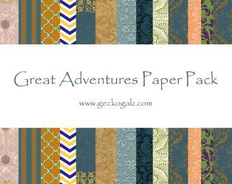 Great Adventures Digital Paper Pack
