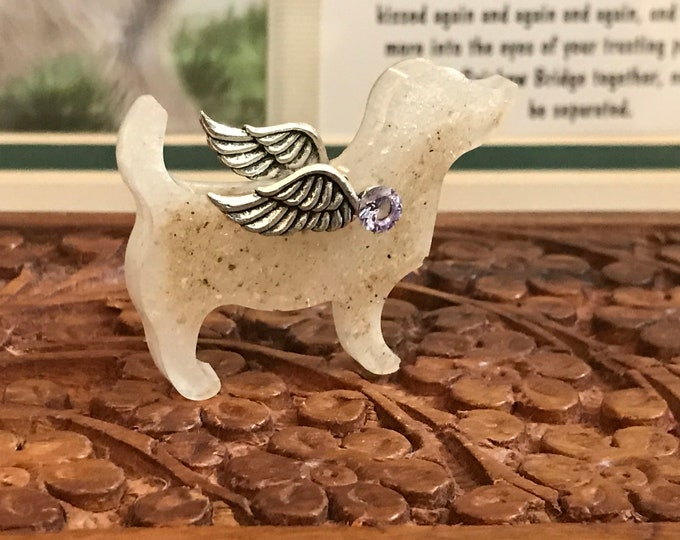 Rainbow bridge pet memorial cremation ashes dog memorial for urn or necklace