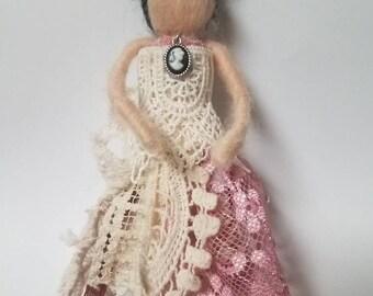 Needle Felted Doll, Miniature Doll, Magick, Bohemian, Boho