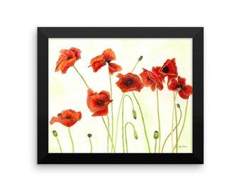The Poppies-Framed Fine Art Print