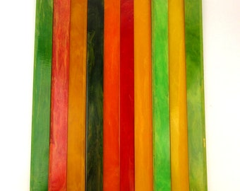 Lot 10 Long Color Old Bakelite Rods Sticks - To Cut For Parts Charms Findings