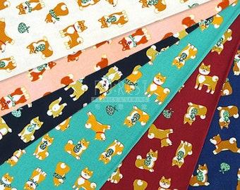Cosmo 100%cotton shiba inu fabric