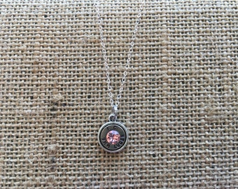 "18"" Sterling Silver Bullet Necklace"