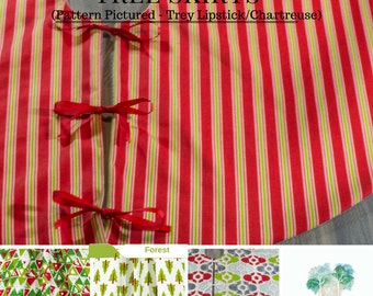 "Christmas in July - Christmas Tree Skirt - Lined Tree Skirt - 52"" - 36"" - and 24"" Tree Skirt - Premier Prints Holiday Fabrics"