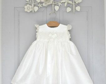 Christening Dress - Baptism Dress - Baby Girl Baptism Dress - Baby Blessing Dress - Christening Gown - Baptism Gown - Lucy Christening Dress