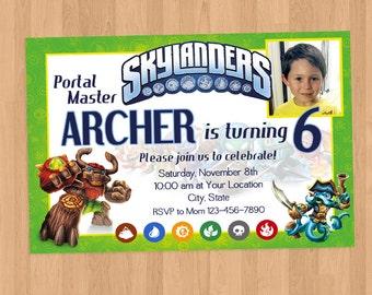 Skylanders invitationskylanders birthdayskylanders birthday skylanders birthday party invitation printable filmwisefo