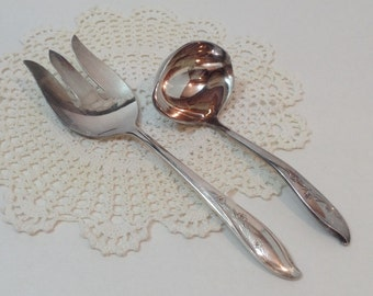 1847 Rogers Bros IS SPRINGTIME Gravy Ladle Meat Fork International Silverplate Flatware