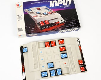 Vintage 1980s Game / Milton Bradley Input 1984 Complete VGC / Two Player Strategy Game