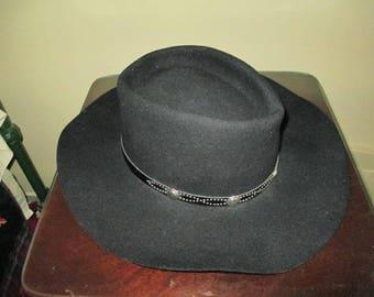 Nice Vintage EDDY Black Cowboy Hat / Men's Size Medium