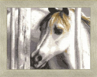 Cross Stitch Kit White foal