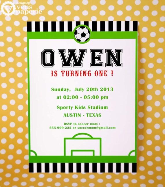 Diy printable invitation card soccer birthday party like this item filmwisefo Gallery