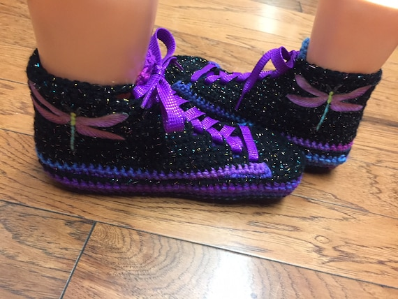sneakers tennis 406 crochet shoes List dragonfly 10 8 shoes dragonfly sneaker slippers sneakers slippers Crocheted tennis crocheted Womens 1R7d4w7q
