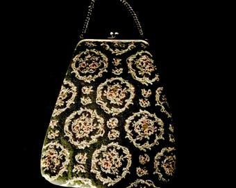 40's Tapestry Ladies Handbag      GJ2606