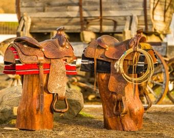 Western Saddle Stools