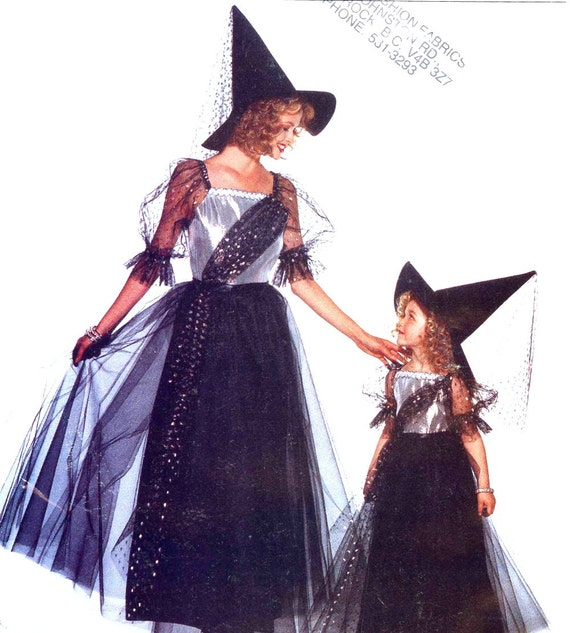 Womens witch costume sewing pattern Butterick 3588 Halloween costume ...