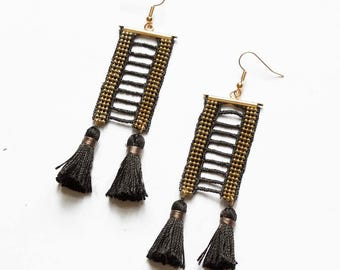 Lace earrings - OPIUM - Black lace
