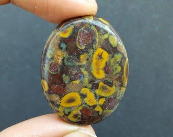 Fruit Jasper Cabochon 55.25 Ct. (36x28x6 mm) Oval Shape Natural Gemstone PA-37