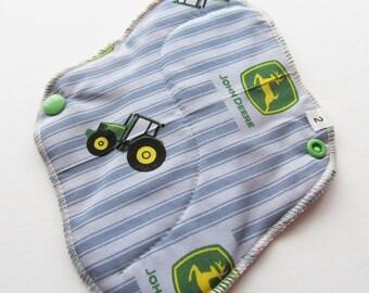 Cloth Mama Pad / Reusable Cloth Pad  - John Deere Printed 8 Inch FREE Shipping