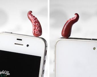 Octopus Dust Plug Tentacle Phone Charm iPhone