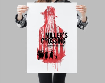 Miller's Crossing movie poster - Cult movie wallart print - Available in different sizes. Check the drop-down menu for your choice