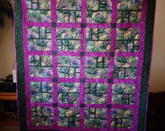 Through the Garden Window - Quilt